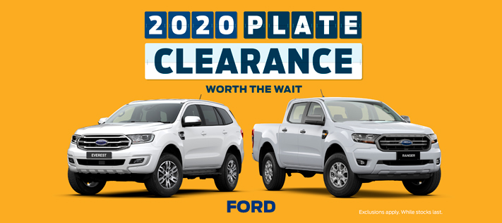 Ford Plate Clearance 2020