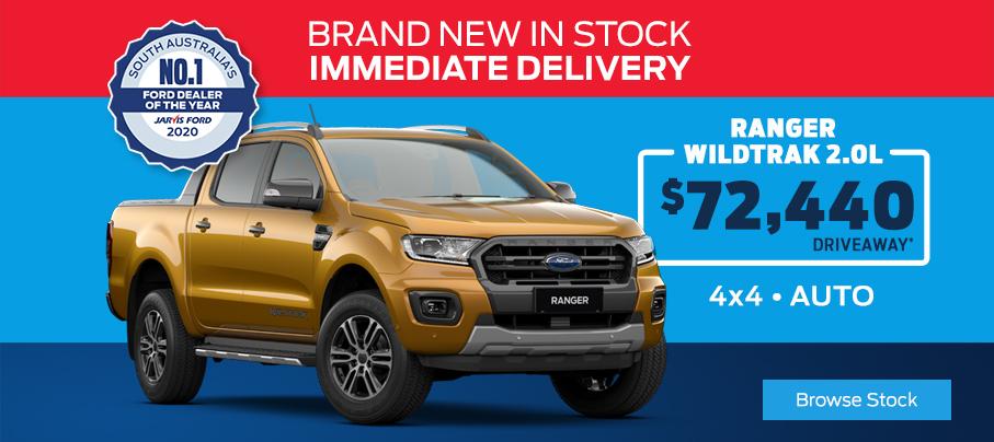 Ford Ranger WildTrak In Stock