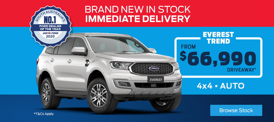 Ford Everest Trend In Stock